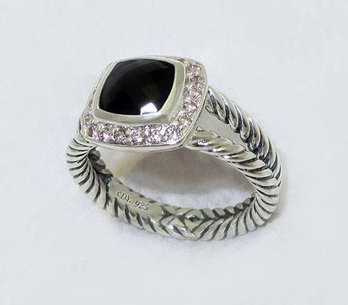 Black Onyx Diamond Ring Ebay