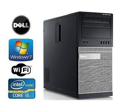 Dell Optiplex 790/990 Tower Windows 7 Pro I5 Quad Core 3.4GHz 4GB DVD/RW WiFi