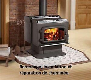 Ramonage, installation et réparation de cheminée.