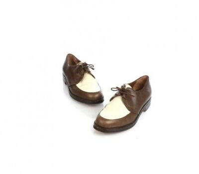 Henry Beguelin for Barney's - Vintage Brown + Cream Golf Style Oxford - Size 7.5
