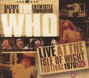 THE WHO - LIVE - ISLE OF WIGHT FESTIVAL 1970 - DVD + 2 CD NEU/OVP