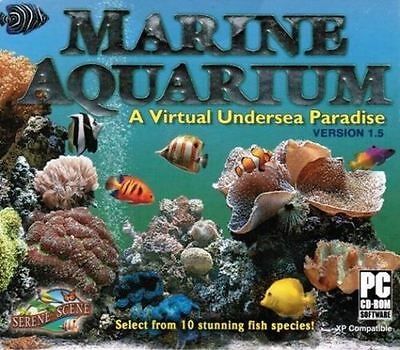 Marine Aquarium 1 5  Virtual Undersea Paradise     Brand New     Screen Saver