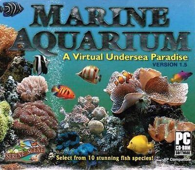 Marine Aquarium 1 5  Virtual Undersea Paradise     Brand New     Screen Saver