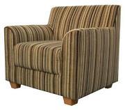 Striped Fabric Armchair