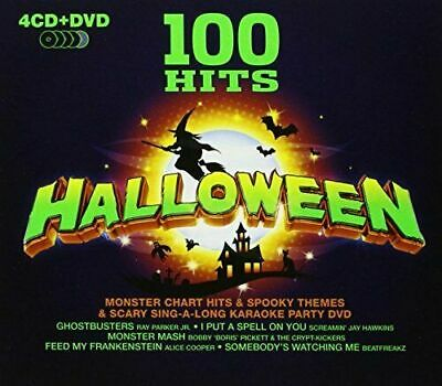 100 Hits Halloween (VA - 100 Hits: Halloween 4xCD + DVD Karaoke 2009 NEU)