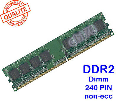 Pin Dimm 16 Chip (Mémoire 2GO/GB DDR2 PC2-6400 240PIN 800Mhz Dimm 16CHIP compatible Intel / AMD)