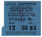 Beatles Concert Ticket