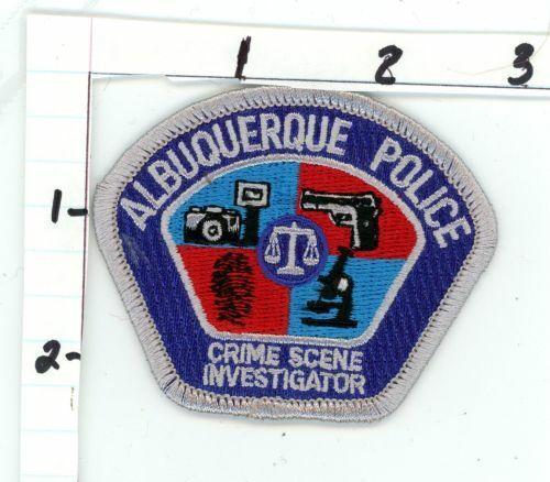 ALBUQUERQUE NEW MEXICO NM CRIME SCENE INVESTIGATOR NEW COLORFUL PATCH SHERIFF