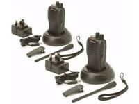 Mitex General Professional UHF Two-Way Radios Twin Pack Incl Acoustic Ear Tubes