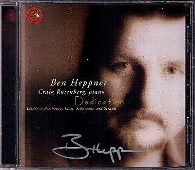 Ben HEPPNER Signed DEDICATION Liszt Schumann Beethoven Richard Strauss Morgen CD ()