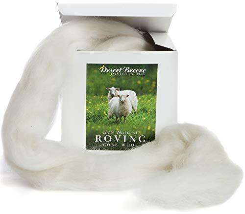100% Natural Wool Roving, 8 OZ Corriedale, Best Core Wool for Felting