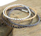 Leather Stainless Steel Fashion Bracelets