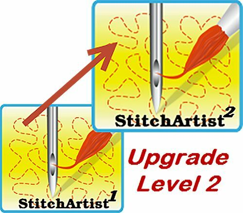 Embrilliance StitchArtist Level 2 Upgrade Machine Embroidery Digitizing Software