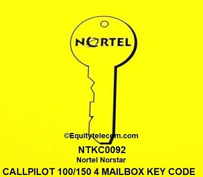 Nortel Norstar Call Pilot 100 Or 150 4-seat Voice Mail Box Keycode Ntkc0092