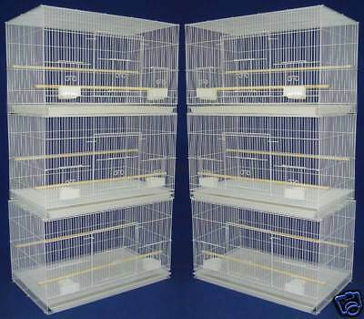 "NEW Lot of 6 Aviary Breeding Breeder Bird Cages 24x16x16""H--#400 White-167"