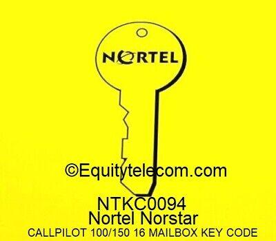 Nortel Norstar Call Pilot 100 Or 150 16-seat Voice Mail Box Keycode Ntkc0094