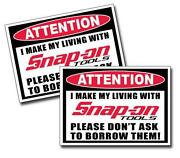 Snap on Tool Box Stickers