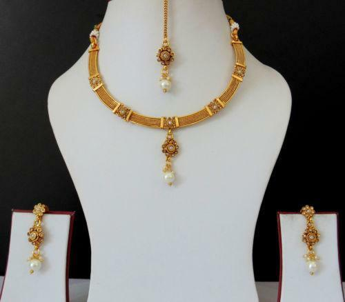 Jewellery India Online Shop Indian Gold Plated Necklace Sets: Indian Gold Plated Jewelry Set