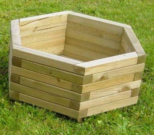 Hexagonal Planter Wooden Ebay