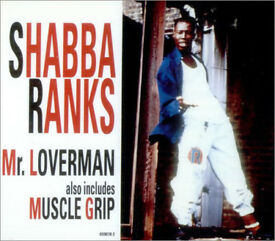 MUSIC CD SHABBA RANKS Mr LOVERMAN L@@K ALSO INCLUDES MUSCLE GRIP 4 TRACKS SHABBA