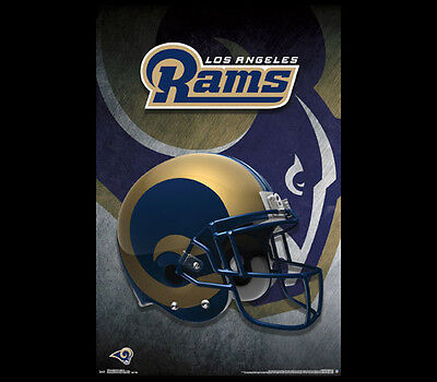 LOS ANGELES RAMS Official NFL Football Team Gold-Style Helmet LOGO WALL POSTER