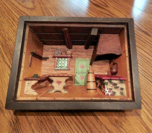 Kitchen Diorama Made Of Cereal Box: Diorama Shadow Box
