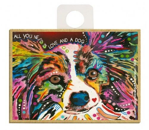 All You Need Is Love And A Dog Papillon Pop Art NEW Fridge Magnet  2.5x3.5 A61