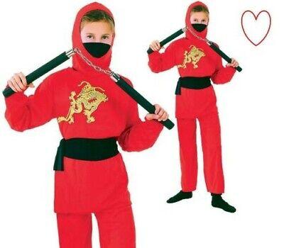 Jungen Ninja Mädchen Kostüm Rot Kostüm Buchwoche Karneval