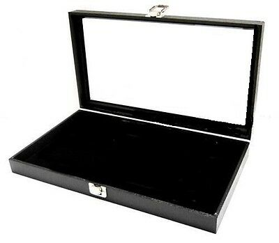 Jewelry Display Case Pad Glass View Top Militaria Medals Knife Rings Pins