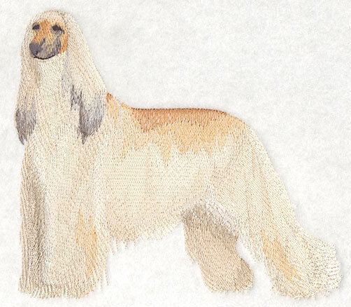 Large Embroidered Zippered Tote - Afghan Hound C3529