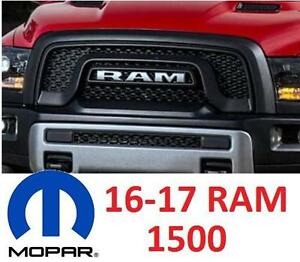 USED MOPAR RAM 1500 REBEL GRILL FITS 2016-2017 DODGE RAM 1500 MODELS - MATTE BLACK REBEL EDITION 102666119