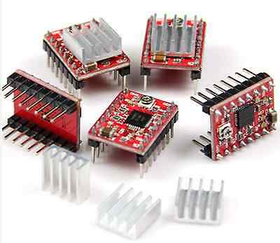 5pcs A4988 Stepper Motor Driver Module 3d Printer Polulu Stepstick Ramps Reprap
