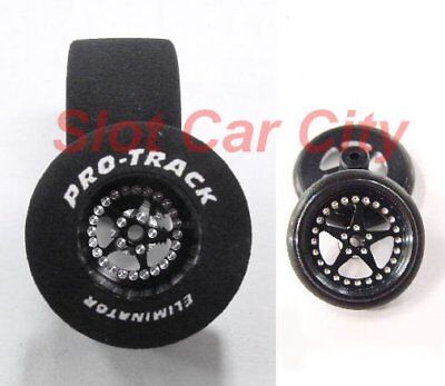 "Pro Track ""Star Black"" 1 3/16"" x .700"" Matching Rr/Ft 1/24 Slot Car Drag Tires, used for sale  Las Vegas"