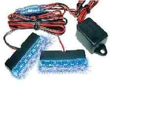 LED Strobo Light  2stück 6 Dash Car Blitzer 12V BLAU Blitzlichter DODGE Nitro