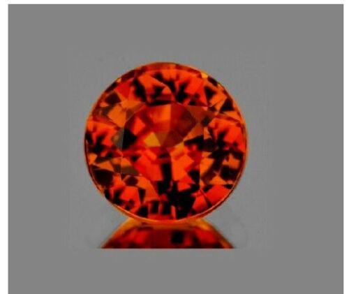 5 mm Round Top AAA Cinnamon Brown Hessonite Garnet VVS Natural Gemstone