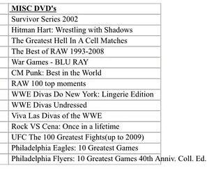 Wwe dvds/box sets and some sports dvds