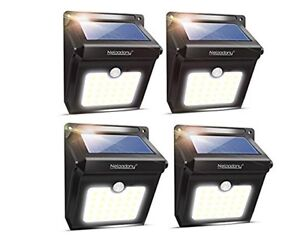 Solar motion night lights 4 pack (waterproof)