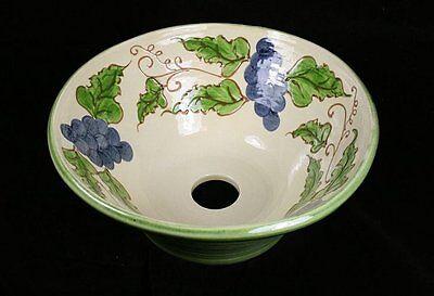 Countertop Ceramic Round Wash Basin Portuguese GRAPES