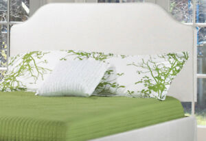 .GORGEOUS UPHOLSTERED FABRIC HEADBOARD/BEDS ON SALE NOW