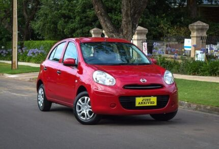 2011 Nissan Micra K13 ST Red 4 Speed Automatic Hatchback Medindie Walkerville Area Preview