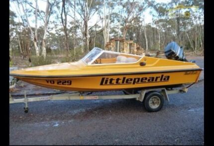 Swift Craft speed boat and trailer  Campbellfield Hume Area Preview
