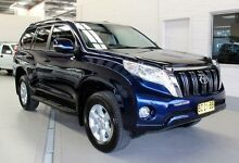 2014 Toyota Landcruiser Prado GRJ150R MY14 GXL (4x4) Blue 5 Speed Sequential Auto Wagon Condell Park Bankstown Area Preview