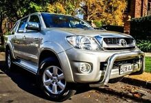 2010 Toyota Hilux KUN26R MY10 SR5 Silver 5 Speed Manual Utility Medindie Walkerville Area Preview