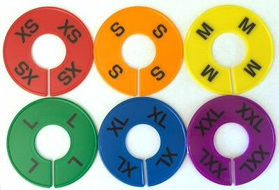 Qty 12 Round Rack Size Dividers Sizes Xs-xxl Circular Divider For Hangrails