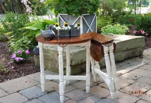 Painted Folding End Table