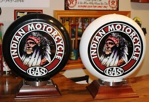 INDIAN MOTORCYCLE POLY GAS PUMP GLOBE, LAMP, DISPLAY