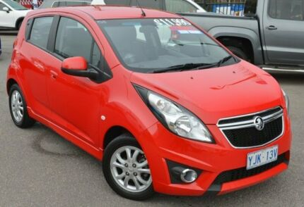 2013 Holden Barina Spark MJ MY13 CD Red 5 Speed Manual Hatchback Phillip Woden Valley Preview