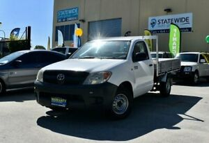 2007 Toyota Hilux TGN16R 07 Upgrade Workmate White 5 Speed Manual Cab Chassis East Brisbane Brisbane South East Preview