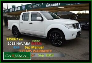 2013 Nissan Navara D40 MY12 ST (4x4) White 6 Speed Manual Dual Cab Pick-up Seven Hills Blacktown Area Preview