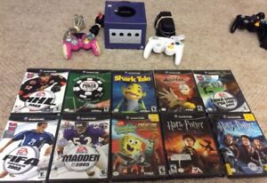 Nintendo Gamecube With 2 Controllers and 10 Child Friendly Games